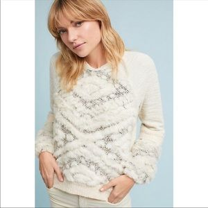 anthropologie • amadi calista faux fur sweater • s